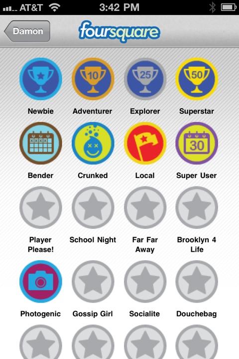 Damon Richards' Foursquare Badges