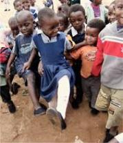 New shoes on children